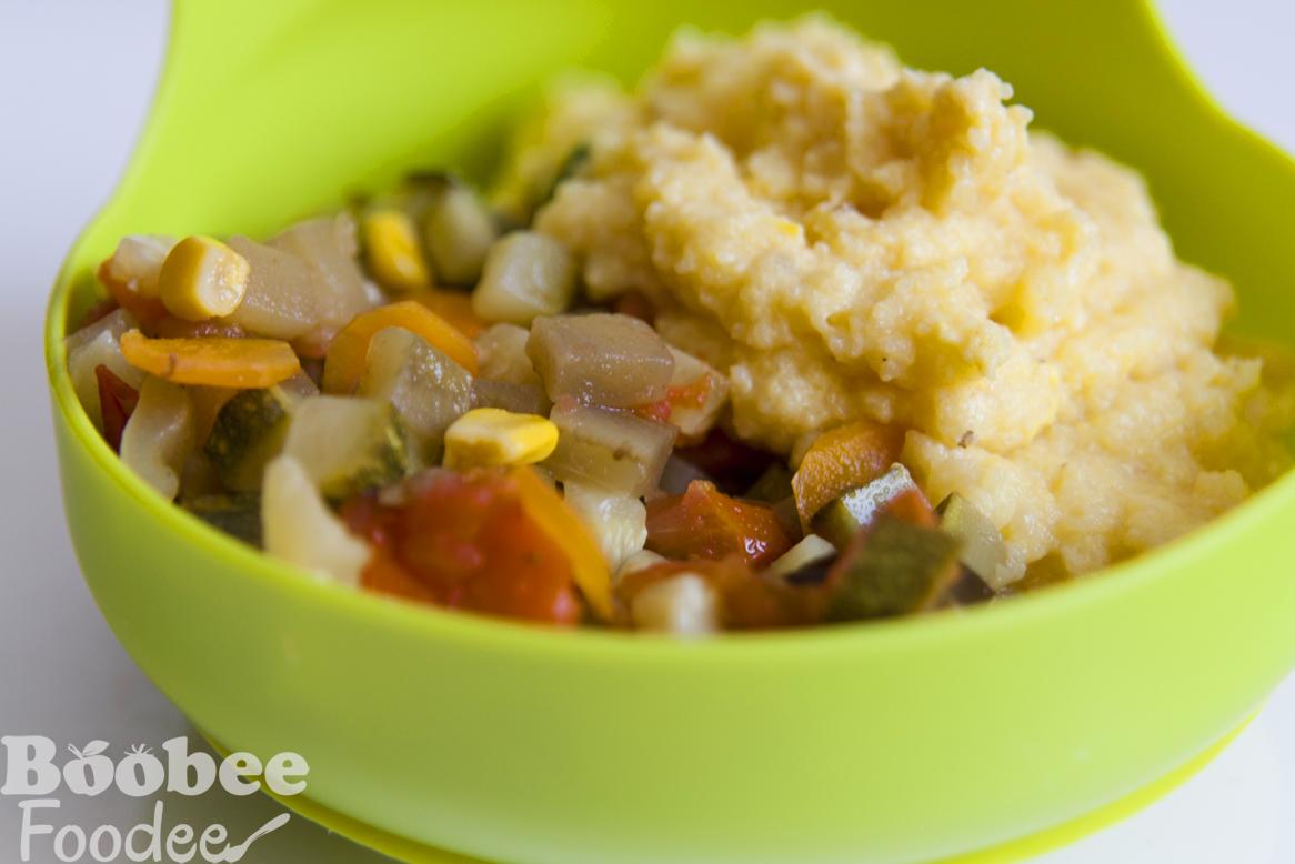 polenta z rumenjakom zelenjavna omaka_wm