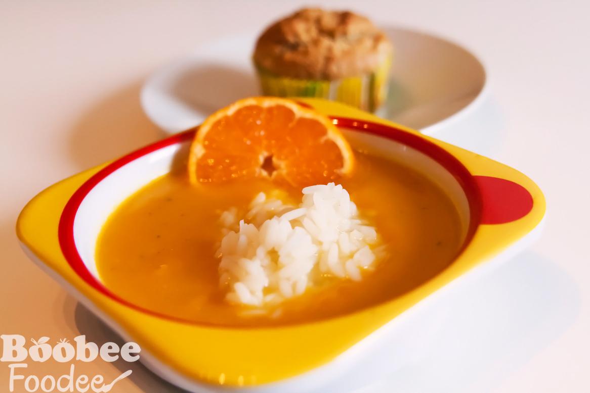 pomarancna juha z buco in rizem