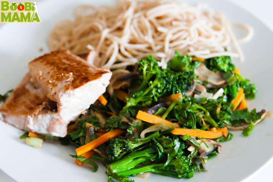 losos, popecen brokolijevi vrsicki, poletna bubimama