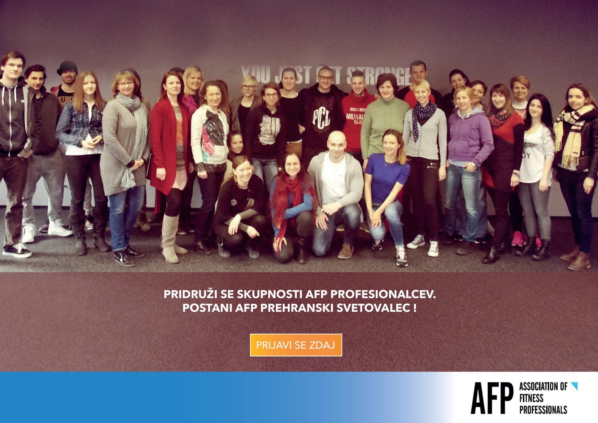 AFP Izobraževanje prehranski svetovalec ali kako sem to postala tudi jaz