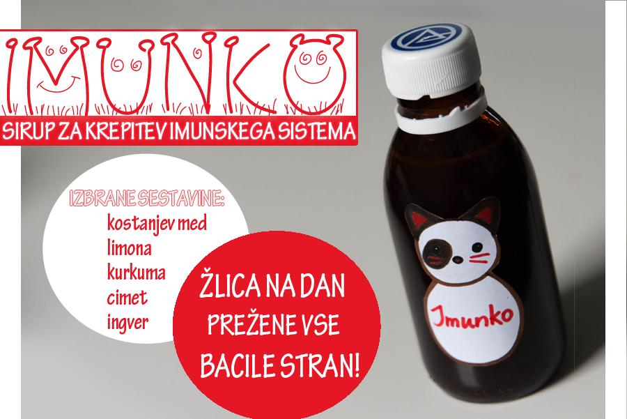 Domači sirup Imunko (za krepitev  imunskega sistema)