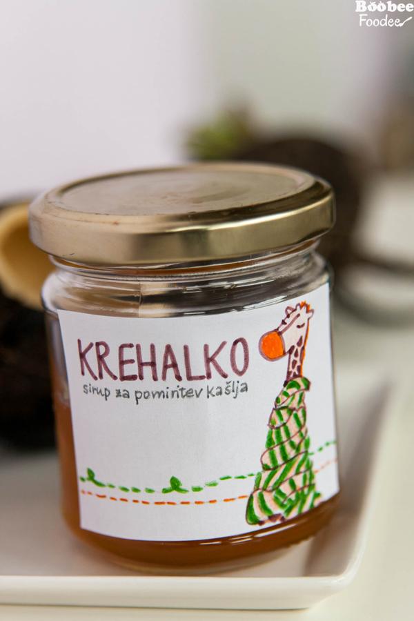 Domači sirup Krehalko (za pomiritev kašlja)
