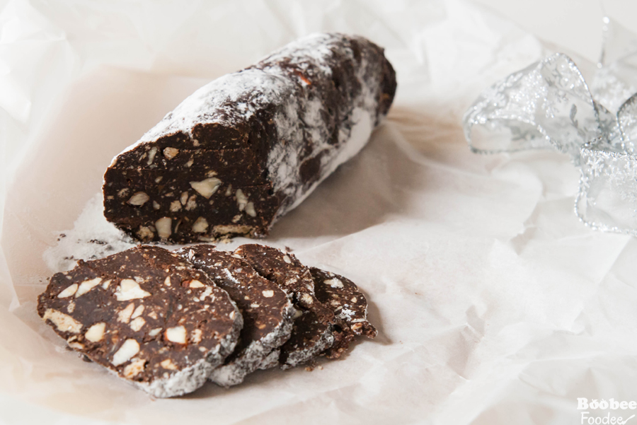 Čokoladna rožičeva salama