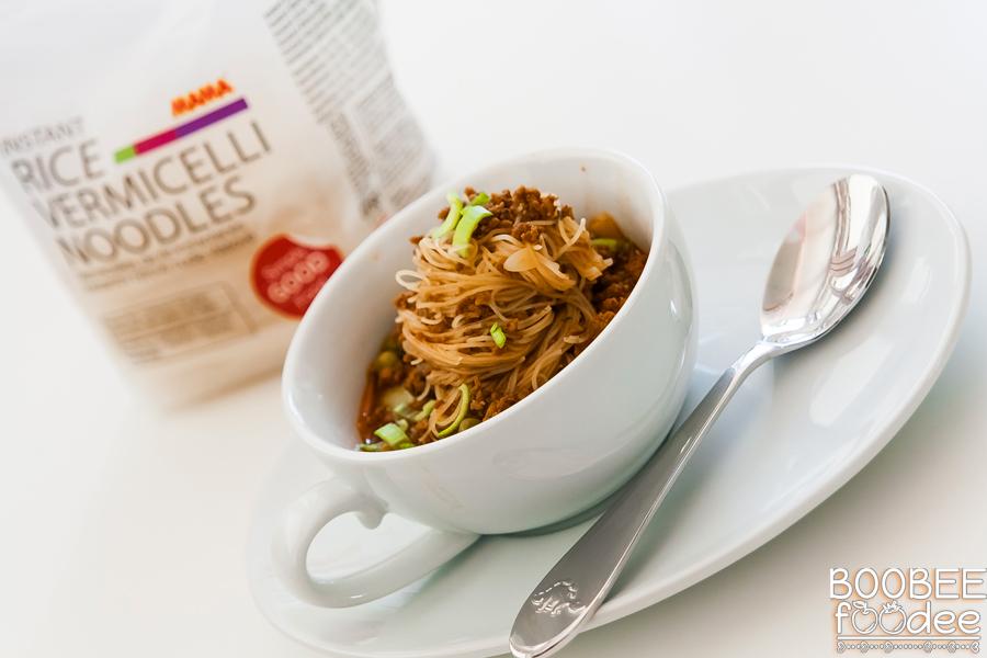 Bolonjska juha z riževimi špagetki MAMA