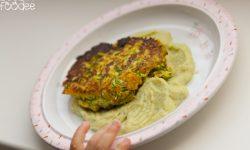 Bučkini polpetki z brokolijevim pirejem