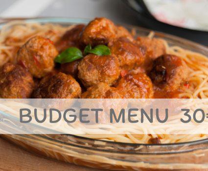 Budget menu 1 (30 €)